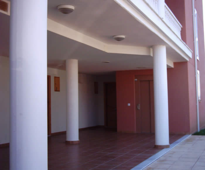 Entrance and elevator